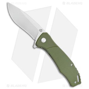 """QSP Raven Liner Lock Knife Green G-10 (3.37"""" Satin)"""