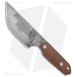 "Sheepdog Knives Mini LDT Fixed Blade Knife Burlap Micarta (3"" Gray)"