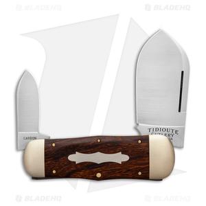 "GEC #46 Tidioute Cutlery Whaler Pocket Knife 4.3"" Desert Ironwood 462218"