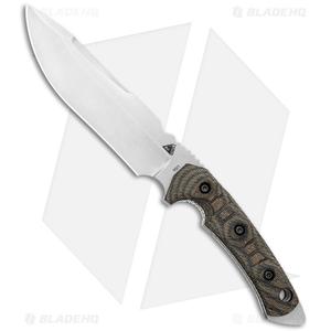 "FOBOS Tier1-C Fixed Blade Knife Camo Canvas Micarta/White Liner (6.5"" SW)"