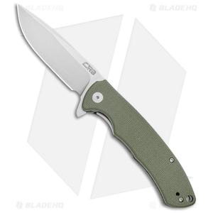 "CJRB Cutlery Taiga Liner Lock Knife Green G-10  (3.75"" D2 Stonewash)  J1903-GNF"