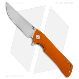 "Bestech Knives Paladin Liner Lock Knife Orange G-10 (3.6"" Satin)  BG13C-1"