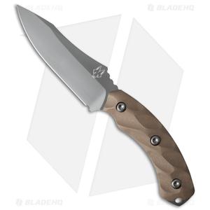 "Southern Grind Jackal Fixed Blade Knife Desert Tan G-10 (4.75"" Gray)"