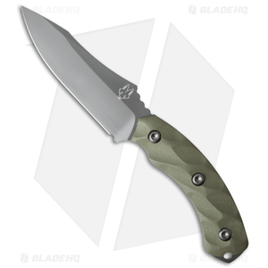 """Southern Grind Jackal Fixed Blade Knife OD Green G-10 (4.75"""" Gray)"""