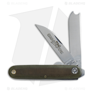 "GEC #35 Farm & Field Calf Pen Pocket Knife 3.6"" OD Green Micarta 350217"