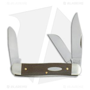 "GEC #66 Northfield UN-X-LD  Calf Roper Pocket Knife 3.3"" OD Green Micarta 661317"