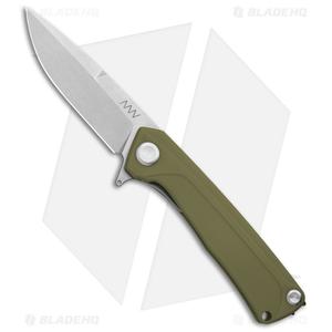 "Acta Non Verba Knives Z100 Liner Lock Knife Olive G-10 (3.5"" Stonewash)"