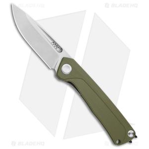 "Acta Non Verba Knives  Z200 Liner Lock Knife Olive G-10 (3.5"" Stonewash)"