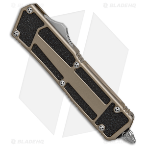 """Microtech QD Scarab S/E OTF Automatic Knife Tan (3.5"""" Bead Blast) 178-7TA"""