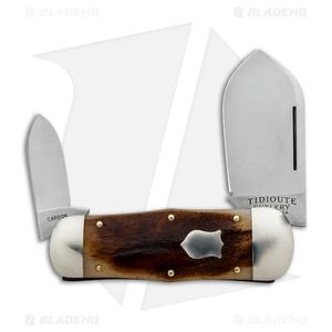 "GEC #46 Tidioute Cutlery Whaler Pocket Knife 4.3"" Muscle Bone 462218"
