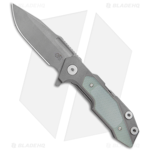 """Hinderer Knives Full Track Spanto Knife Jade Green G-10/Ti(3.75"""" Working Finish)"""