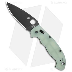 "Spyderco Manix 2 XL M4 Natural G-10 Knife (3.88"" Black) C95GM4PBK2 Exclusive"