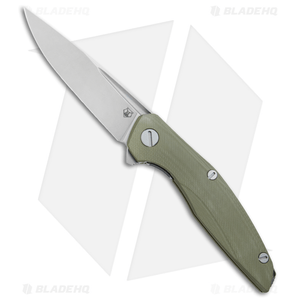 "Shirogorov 111 Liner Lock Knife OD Green G-10 (4.25"" Stonewash)"