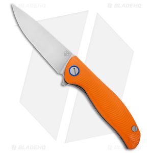 """Shirogorov F3 Liner Lock Knife Orange G-10 (3.7"""" Stonewash)"""