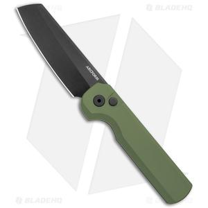 "Arcform Slimfoot Automatic Knife Green Aluminum (3.1"" Black)"