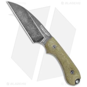 "Bradford Knives Guardian3 Wharncliffe Knife 3D OD Green Micarta (3.625""Nimbus )"