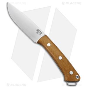 "Bark River Fox River LT Fixed Blade Knife Natural Canvas Micarta (4.25"" Satin)"