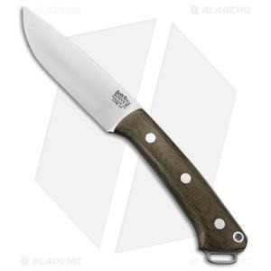 "Bark River Fox River LT Fixed Blade Knife Green Canvas Micarta (4.25"" Satin)"