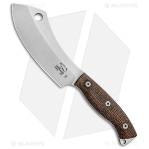 """White River Camp Cleaver Fixed Blade  Burlap Micarta  (5.5"""")  *Discounted*"""