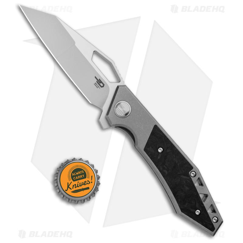 Bestech-Knives-Fractal-Frame-Lock-Flipper-Knife-Titanium--3.46--Satin--BT1907A