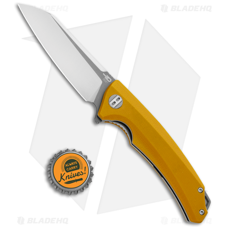 Bestech-Knives-Texel-Liner-Lock-Knife-Yellow-G10--3.25--Gray-Satin--BG21C-2