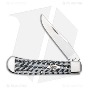 "Case Back Pocket Knife 4.625"" Black/White Carbon Fiber (TB101546 SS) 38924"