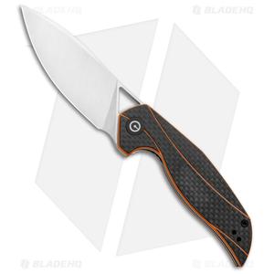 "CIVIVI Isham Anthropos Flipper Knife Orange/Carbon Fiber (3.25"" Satin) C903A"