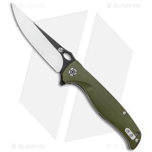 "QSP Gavial  Liner Lock Knife OD Green G-10 ( 4"" Two-Tone)"