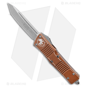 """Microtech Combat Troodon Tanto Auto OTF Knife Distressed Tan (3.8"""" Apocalyptic)"""