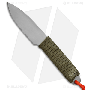 "Snody Boss Fixed Blade Knife OD Green Wrap (3.375"" Gray)"