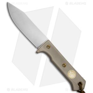 "Wallace Edged Tools Knives FS II Fixed Blade Knife Tan G-10 (4.5"" Satin)"