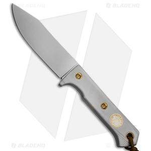 "Wallace Edged Tools FS II Fixed Blade Knife Gray G-10 (4.5"" Satin)"