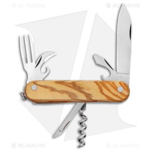 "Mercury 7-in-1 Multi-Purpose Penknife Olive Wood (3"" Polish) 913-6LC"
