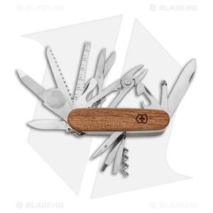 Victorinox SwissChamp Swiss Army Knife w/ Walnut Wood Handle 1.6791.63US2