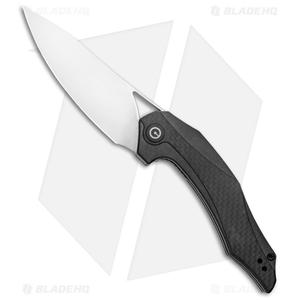 """CIVIVI Isham Plethiros Flipper Knife CF/G10 (3.45"""" Satin) C904C"""
