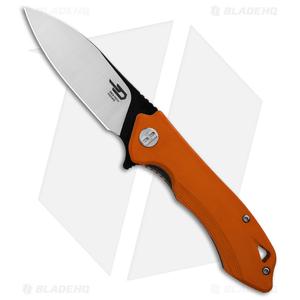 """Bestech Knives Beluga Liner Lock Knife Orange G-10 (3"""" Two-Tone) BG11E-1"""