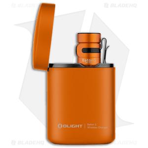 Olight Baton 3 Premium Edition Flashlight Orange (1200 Lumens)+ Portable Charger
