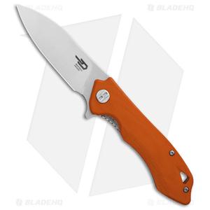 """Bestech Knives Beluga Liner Lock Knife Orange G-10 (3"""" Satin) BG11E-2"""