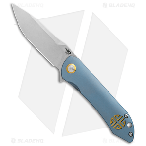 "Bestech Knives Emperor Flipper Knife Blue Ti (3.13"" Stonewash) BT1808B"