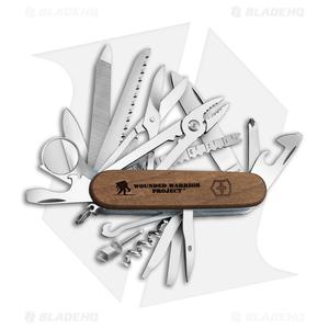 Victorinox SwissChamp Swiss Army Knife WWP Wood Handle 55076.US2