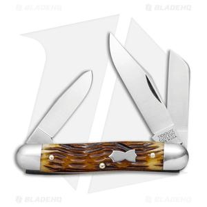 "GEC #66 Tidioute Cutlery Stockman Pocket Knife 3.3"" Autumn Jig Bone 661317"
