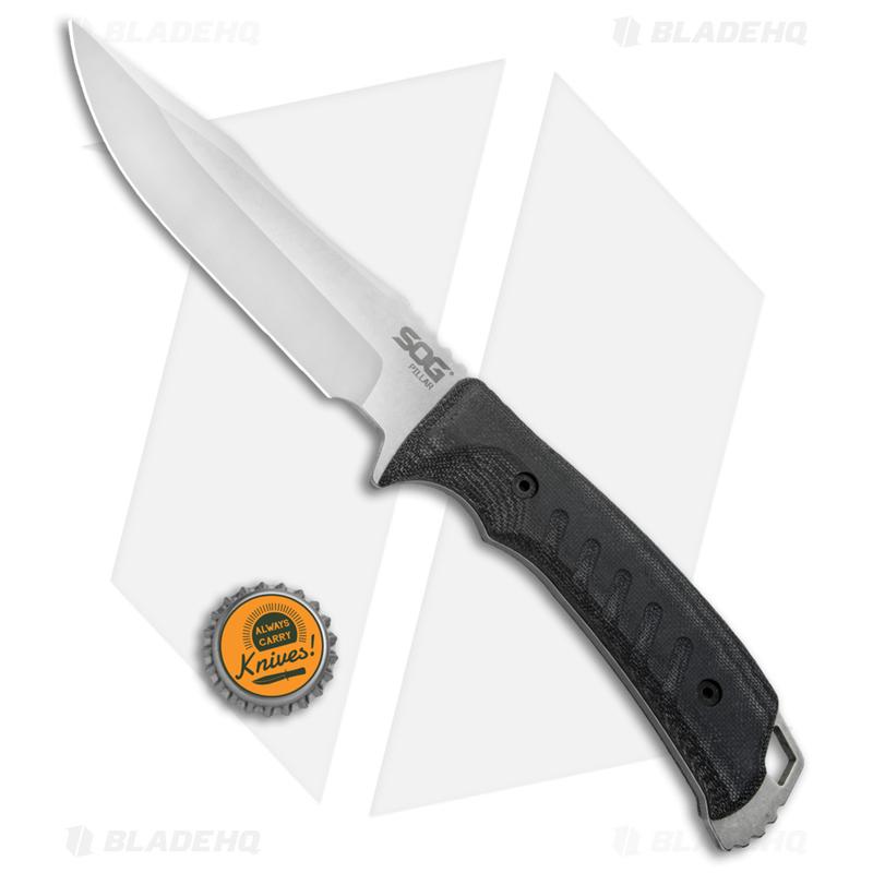 SOG-Pillar-Fixed-Blade-Knife-Black-Canvas-Micarta--5--Satin-