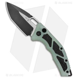 "Heretic Knives Medusa Automatic Knife Jade G-10 (3"" Black Tanto)"
