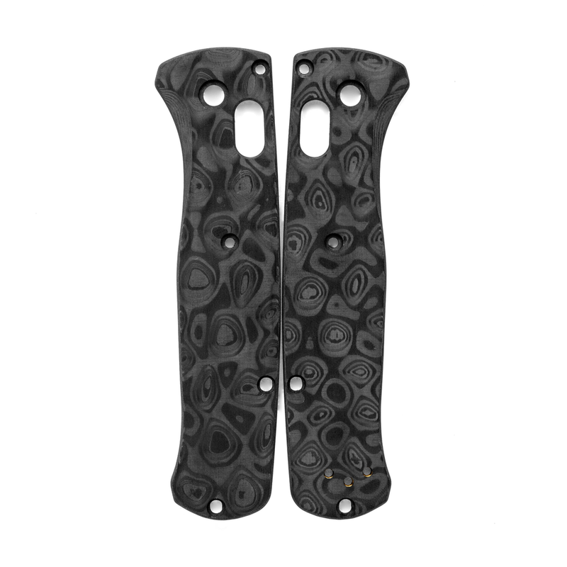 Raindrop-Carbon-Fiber-Scales-for-Benchmade-Bugout-Knife