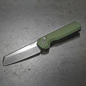 Slimfoot OD Green Automatic Knife - Acidwash