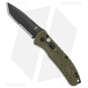 "Gerber  Propel Downrange Automatic Knife OD Green (3.5"" Black Serr)"