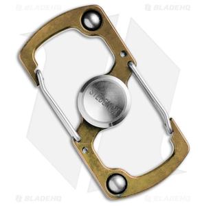 Stedemon Z06 Stainless Steel Carabiner Fidget Spinner (Gold)