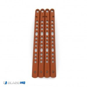 Flytanium V3 Titanium Handles for 6X Benchmade Balisong - Burnt Orange Cerakote