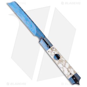 """Rainy Vallotton Custom Small Razor Automatic Knife (3.5"""" Damascus)"""