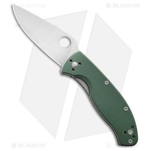 "Spyderco Tenacious Liner Lock Knife Green G-10 (3.375"" Satin) C122GPGR"